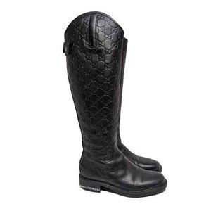 Gucci Black Maud Riding Boots